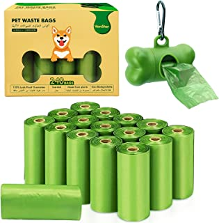 VanStar Biodegradable Scented Pet Waste Bags for Dog Cat, 16 Rolls Total of 240, Extra Thick Large Leak Proof Environment ...