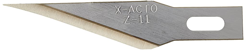 X-ACTO Z Series Light-Weight Replacement Blade, No 11, 4-7/8 in L, Stainless Steel Blade, Gold Hue, Pack of 5