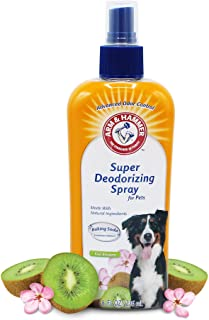Arm & Hammer Super Deodorizing Spray for Dogs | Best Odor Eliminating Spray for All Dogs & Puppies, Kiwi Blossom Scent,8 O...