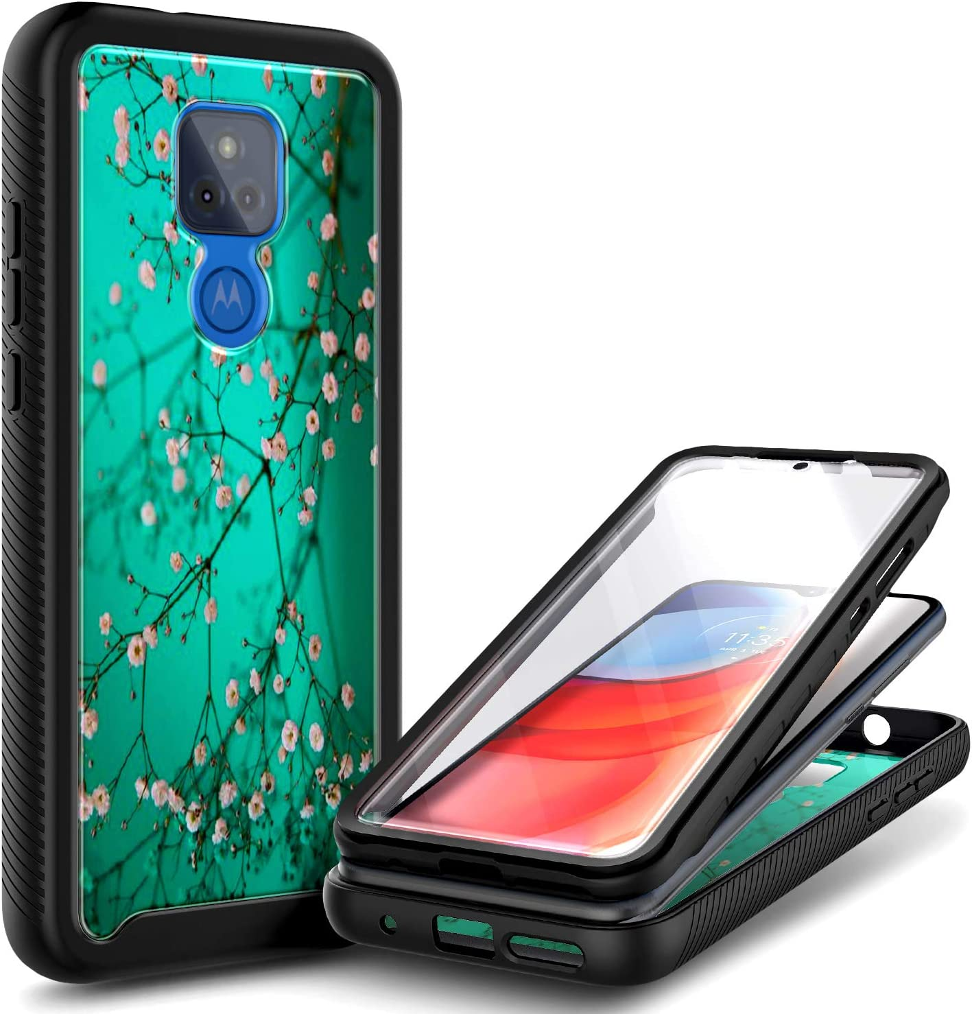 NZND Max 62% OFF Moto G Play 2021 Case Screen Built-in Protector depot Ful with