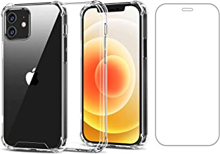 Hileny Case for iPhone 12 / iPhone 12 Pro with 1 Tempered Glass Screen Protectors, Shockproof Anti-Scratch Soft TPU Bumper...