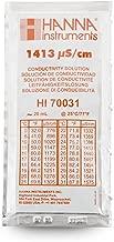 Hanna Instruments HI 70031P Conductivity Calibration Solution, 1,413 microsiemens/cm, 20mL Sachet (Box of 25)