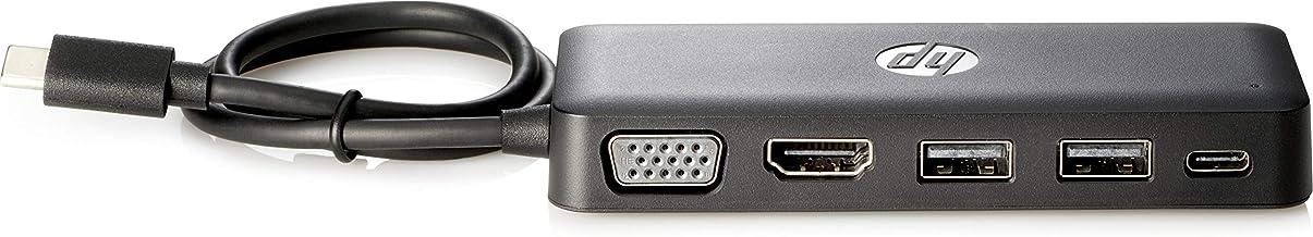 HP Z9G82AA USB C - Concentrador de viaje, Negro