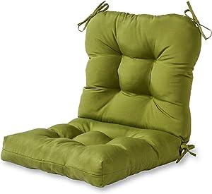 Greendale Home Fashions AZ5815-HUNTERGREEN Juniper 42'' x 21'' Outdoor Seat/Back Chair Cushion