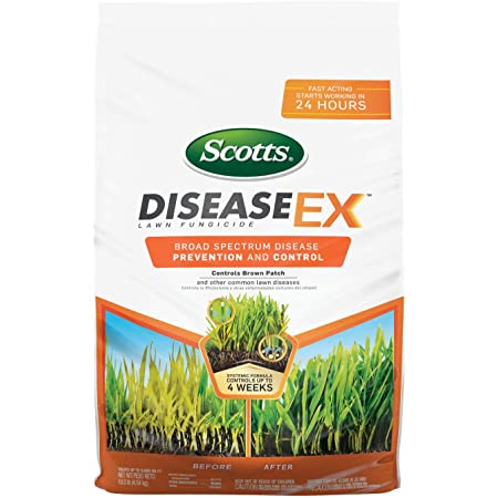 Scotts DiseaseEx Lawn Fungicide - Fungus Control, Fast Acting, Treats up to 5,000 sq. ft., 10 lb.