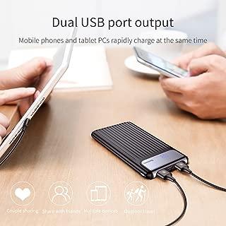 Baseus Thin QC3.0 M+T Dual input Digital Display Powerbank 10000 Mah Black PPYZ-C01