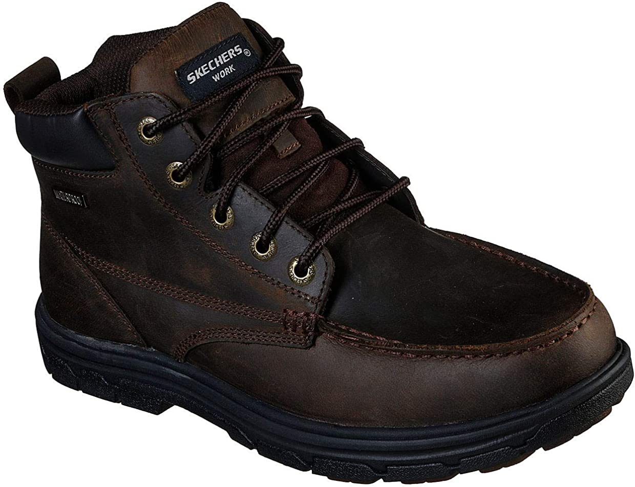 Skechers Men's Challenge the lowest price of Japan Work Relaxed Fit: Dark WP Vicksburk Superior Boot Gentain