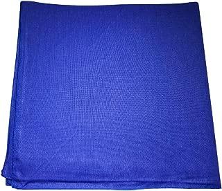 One Dozen Solid Plain Colors 100% Cotton Bandana - 12 Pack by M.H.I. ( 14 Colors)