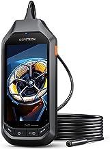 DEPSTECH HDデジタル 内視鏡 1080P ファイバースコープ 4.5インチIPSスクリーン付き 8MM 超薄型レンジ 防水検査カメラ 6つの調整可能なLEDライト ボアスコープ SDカード付き 排水口/車/設備の点検 5M 技適認証済み
