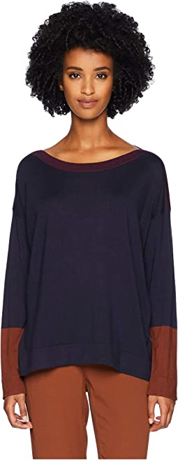 Lightweight Cozy Tencel Stretch Bateau Neck Top
