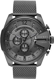 ساعة انالوج ستانلس ستيل للرجال من ديزل بمينا رمادية اللون - DZ4527