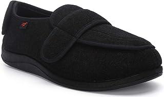 YURUMA Hombres Mujer X-Ancho Ajustable Zapatos Turgente Pies Pantufla, Anciano Cómodo Velcr Botas, Diabético Obesidad Zapa...