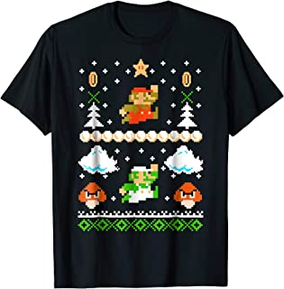 Mario Goomba Ugly Christmas Sweater T-Shirt