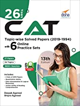 26 Years CAT Topic-wise Solved Papers (2019-1994) with 6 Online Practice Sets 12th edition