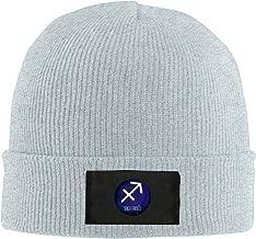 NO4LRM Men Women Sagittarius Constellations Warm Stretchy Solid Daily Skull Cap Knit Wool Beanie Hat Outdoor Winter