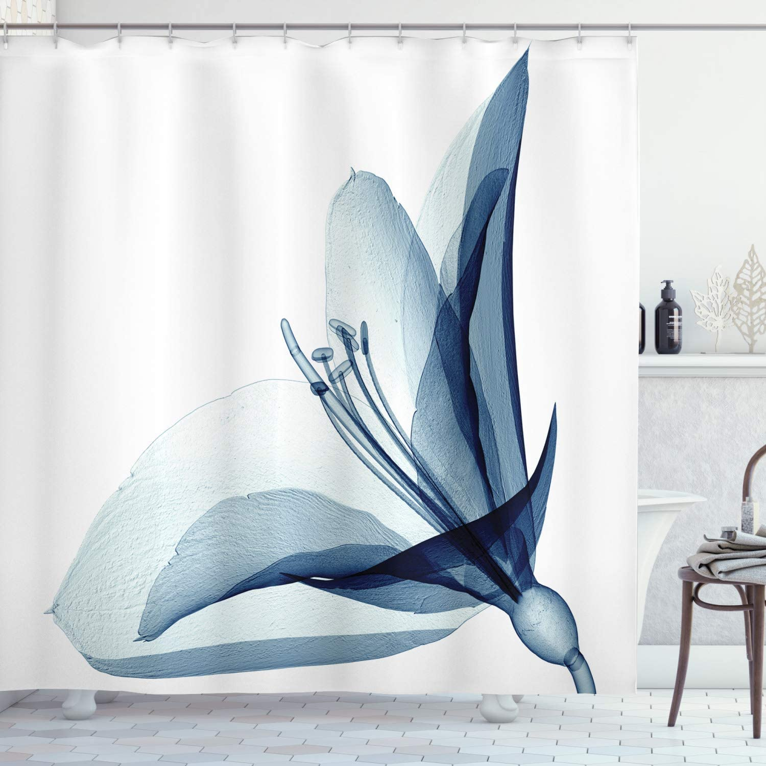 Ambesonne Flower Shower Curtain San Antonio Detroit Mall Mall X-ray of Inspired Image Amaryll