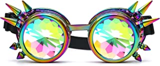 Kaleidoscope Rave Rainbow Crystal Lenses Steampunk Goggles