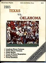 Texas vs. Oklahoma-1985 NCAA Football Program National Champs