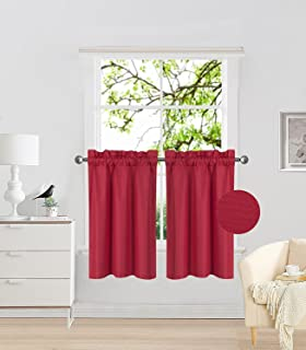 Premier Prints Scarlet Curtains Kitchen Childrens Curtains kendall Red Living Room 2 Curtains each 24 or 52 Wide Bedroom