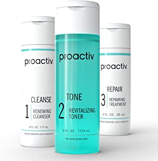 Best Proactiv 3 Step Acne Treatment - Benzoyl Peroxide Face Wash, Repairing Acne Spot Treatment For Face And Body, Exfoliating Toner - 90 Day Complete Acne Skin Care Kit Review