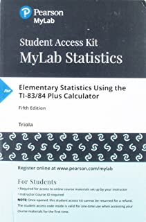MyLab Statistics with Pearson eText -- 24 Month Standalone Access Card -- for Elementary Statistics Using the TI-83/84 Plus Calculator (5th Edition)