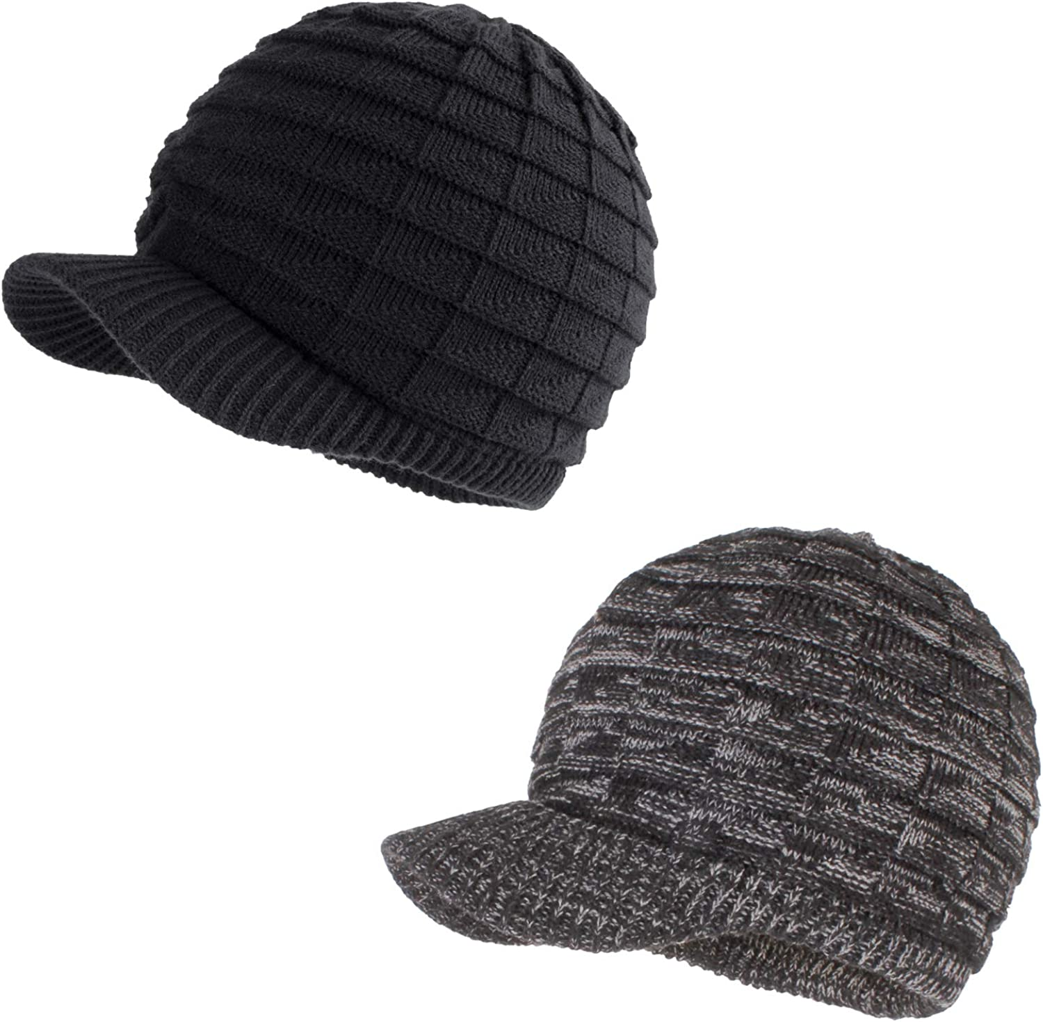 Tulsa Mall Unisex Winter Hats with Visor Warm outlet ski Knitted hat Stylish f