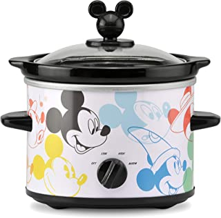 Disney Mickey Mouse 90th Anniversary 2-Quart Slow Cooker (L x W x H) 9.25 x 8.19 x 8.13 Inches