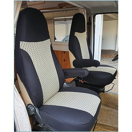 Bremer SitzbezÜge Sitzbezüge Kompatibel Mit Wohnmobil Fahrer Beifahrer Farbnummer Schwarz Beige 812 Auto