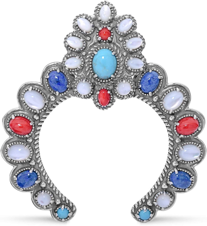 American West Sterling Multi Gemstones Ranking TOP7 Enhancer Chicago Mall - C Naja Pendant