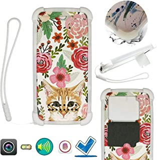 Case For Tecno Spark 4 Lite Case Silicone border + PC hard backplane Stand Cover HDMM