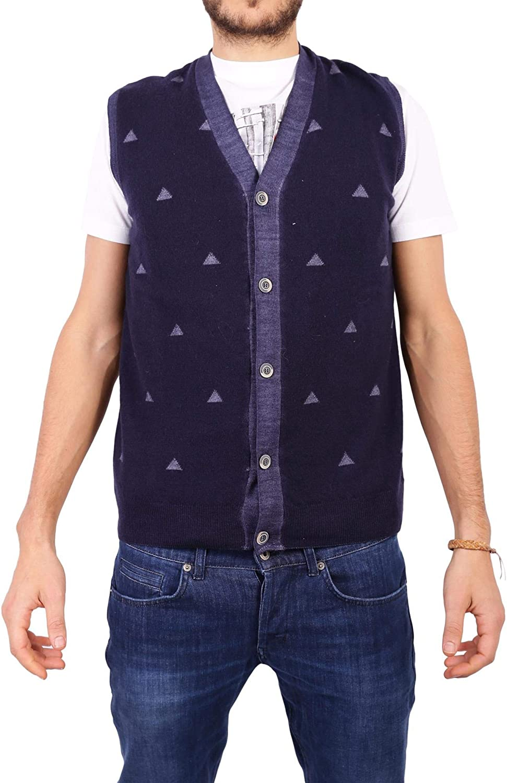 BOB Men's JEREMYIT99MIDNIGHT blueee Wool Vest