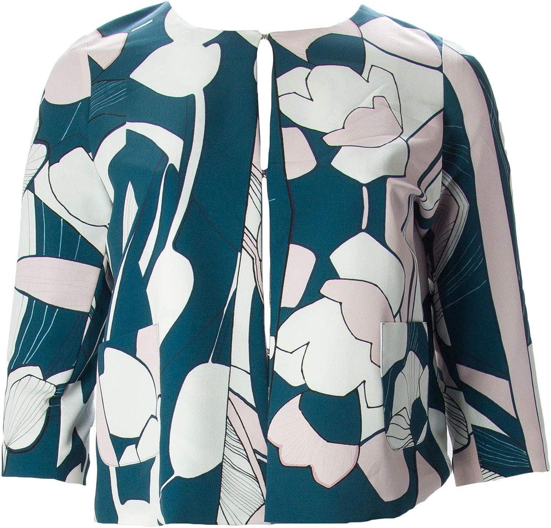 Marina Rinaldi Women's Cancan Printed Jacket, Dark Green, 8W / 17