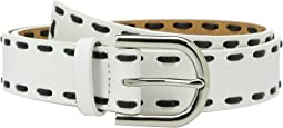 MICHAEL Michael Kors - 32mm Smooth Leather Panel Belt with Lacing