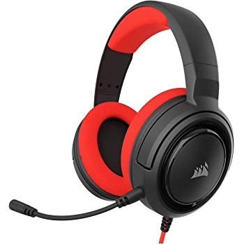 Corsair HS35 - Stereo Gaming Headset - Memory Foam Earcups - Headphones Designed for Switch and Mobile – Red