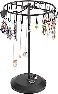 Black Rotating Necklace Holder Bracelet Stand / Jewelry Organizer / Jewelry Tree by MyGift