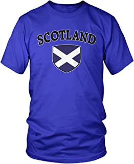 Men's Scotland Flag Shield, Scots Scottish Pride T-Shirt