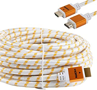 CableVantage HDMI Braided for PS4 HDMI Cable 18Gbps Premium Braided Cord -Gold Plated Connectors -Ethernet,Audio Return -V...