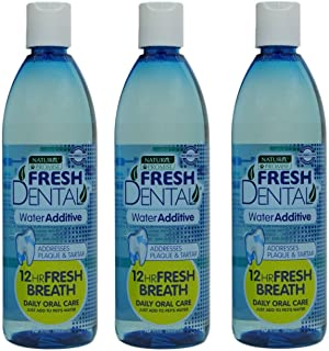 Naturel Promise Fresh Dental Water Additive for Dogs and Cats - Easy to Use Pet Dental Care Water Additive to Help Clean T...