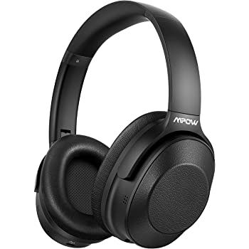 Amazon Com Mpow H12 Noise Cancelling Headphones Bluetooth Wireless Wired Headphones Over Ear With Microphone Hi Fi Deep Bass Memory Protein Earmuffs 30h Playtime For Tv Travel Online Class Home Office Electronics