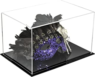 Better Display Cases Versatile Acrylic Display Case, Cube, Dust Cover and Riser with Black Base 12