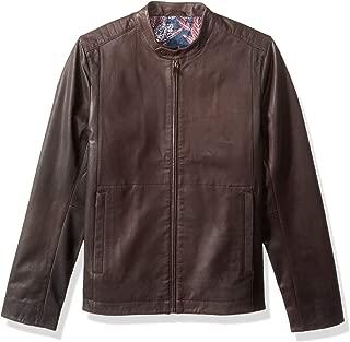 Men's Mate Modern Slim Fit Leather Biker Jacket