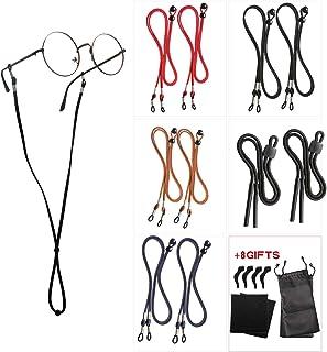 10 Pack Eyeglasses Holder Straps Cord - Leather Eyeglasses String Holder Chain- Glasses Cord Lanyard - Eyeglass Retainer