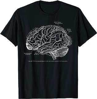 Vintage Human Anatomy Brain Tee T-tshirt