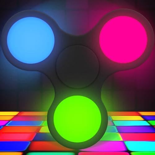 Fidget Spinner  Neon Disco Glow - Stres Çarkı