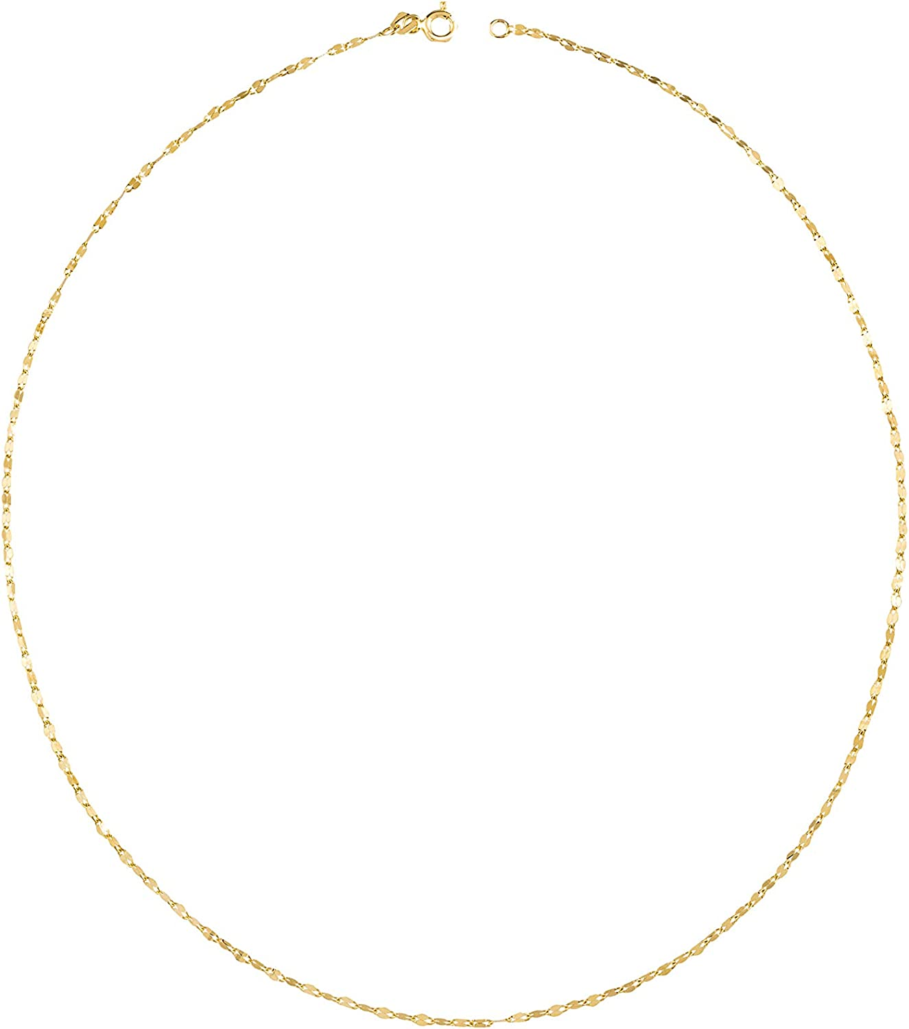 Max Tulsa Mall 54% OFF Atasay Jewelry Solid Gold Chain Yellow Neckl 14K Necklace -