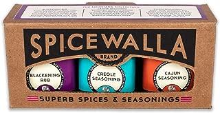 Spicewalla Louisiana Collection Spice Set 3 Pack   Cajun Seasoning, Creole, Blackening Rub   Non-GMO, No MSG, Gluten Free
