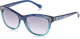 Roberto Cavalli Women's Sun RC991S 91B-55-17-140 Sunglasses, Blue, 55