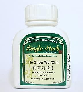 Fo Ti Root (Prepared) Herb Extract Powder / He Shou Wu (Zhi) / Reynoutria Multiflora, 100g or 3.5oz