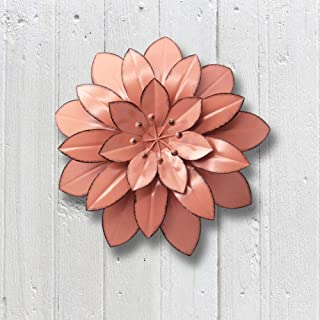 Juegoal 11.5 Inch Large Metal Flower Wall Art Decor for Indoor Outdoor Home Bedroom..
