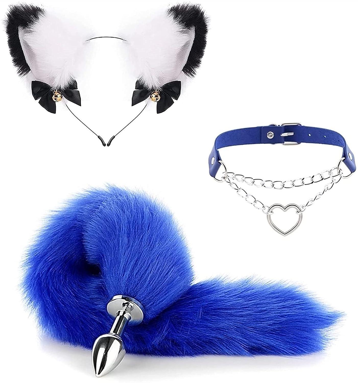 3Pcs Set Cosplay Fox Tail Ear Kit Popular brand in the world Hair B Band Ƀ-û'tÅ¥ Pl'ûg Free Shipping New